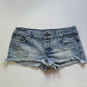 American Eagle Outfitters Denim Shortie Shorts 4